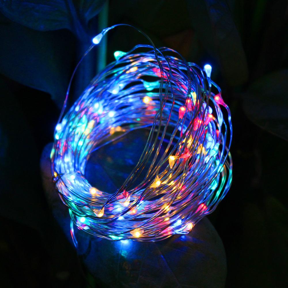 Çapraz sınır kaynağı yeni güneş enerjisi dize LED bakır dize Noel lamba dize 10 m 100 lamba