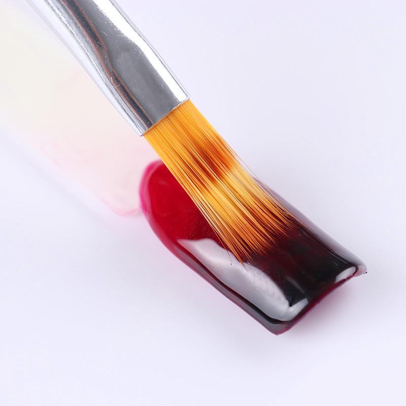 1 قطعة التدرج الطلاء القلم فرشاة الرسم الأسود مقبض خشبي مانيكير uv gel nail art tool