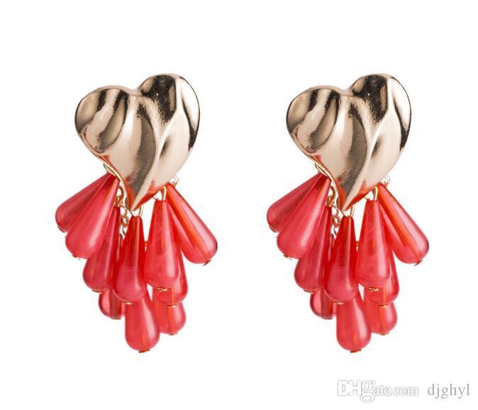 New Fashion Design Crystal Water Drop Tassel Long Earrings Elegant Women Wedding Accessories for Bridal Jewelry Women Gift