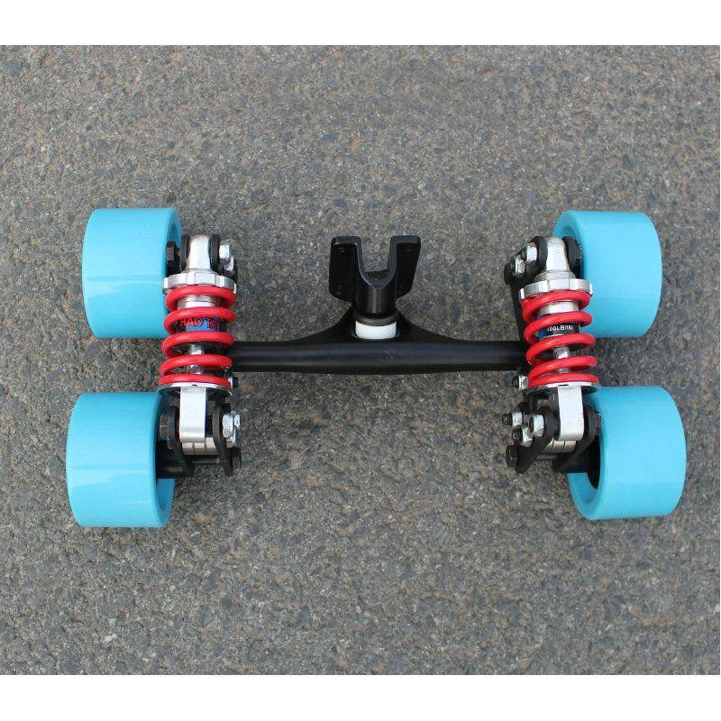 전기 스케이트 보드 트럭 알루미늄 브리지 새로운 4 개의 바퀴 스케이트 보드 다리 긴 보드 트럭 전기 바퀴