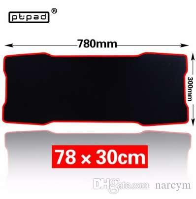 pbpad Large Gaming black mouse pad 780*300mm Plain Extended Anti-slip Natural Rubber mousepad Desk Mat Mouse Mat Keyboard Mat