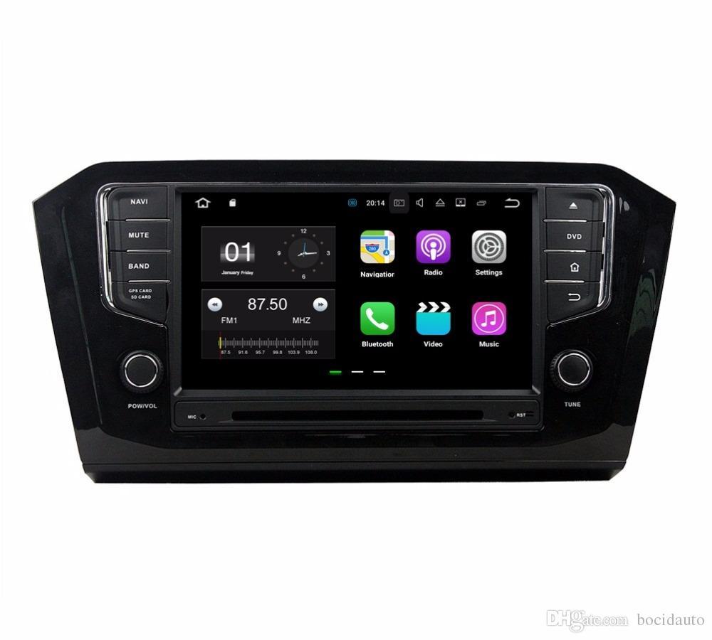 "8"" Android 7.1 Car Radio GPS Multimedia Head Unit Car DVD for VW Volkswagen Passat 2015 2016 With 2GB RAM Bluetooth Mirror-link USB DVR"