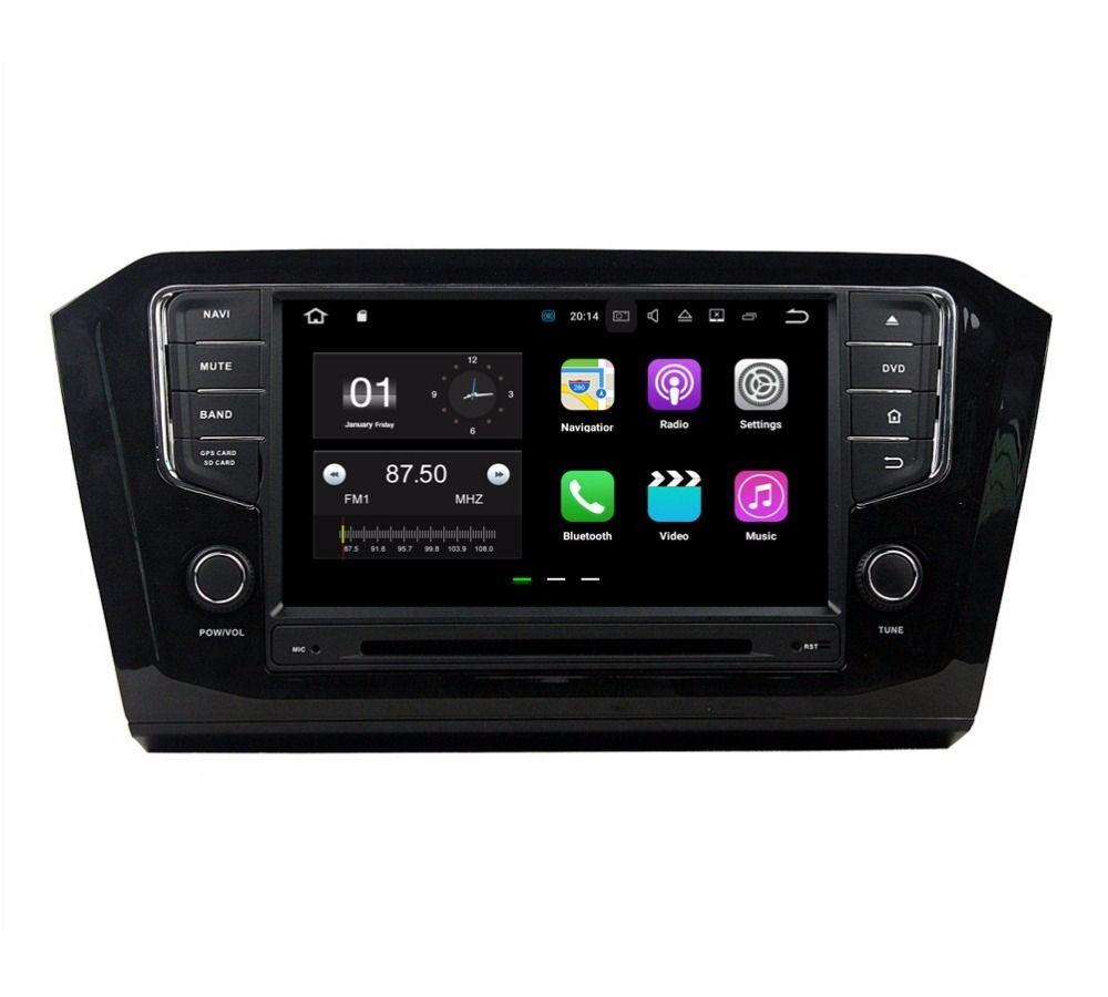 """8 """"الروبوت 7.1 راديو السيارة GPS رئيس وحدة الوسائط المتعددة سيارة دي في دي لشركة فولكس فاجن باسات 2015 2016 مع 2GB RAM بلوتوث مرآة رابط USB DVR"""