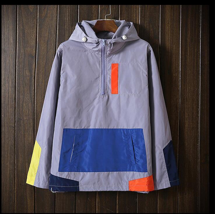 CoolNew Desian Männer und Frauen Jacke Frühling Herbst Patchwork Reflektierende Jacken Sport Hip Hop Outdoor Wasserdichte Windjacke Mantel Plus Größe