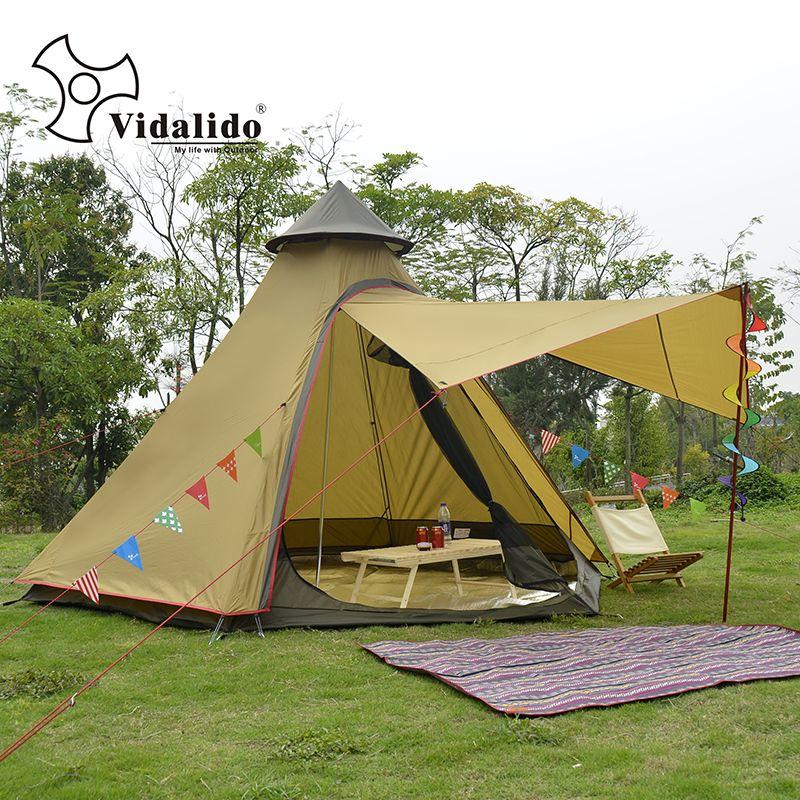 the latest b5db4 23994 Ulterlarge Ultralight Aluminum Poles 3 4 Person Waterproof Teepee Tent  Large Gazebo Barraca Namiot Carpas De Camping Cabin Tent Best Family Tent  From ...