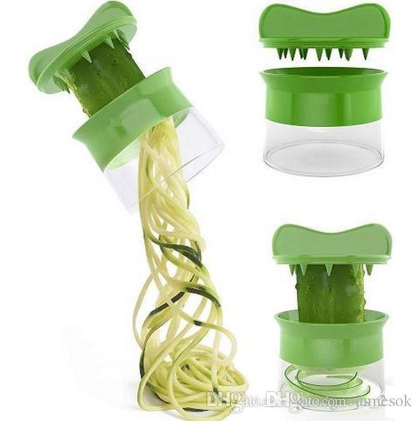 El Sebze Spiralizer Spagetti Makarna Alternatif Sağlıklı El Düzenlenen Spiralizer Erişte Kabak Spagetti Makarna Makinesi b657