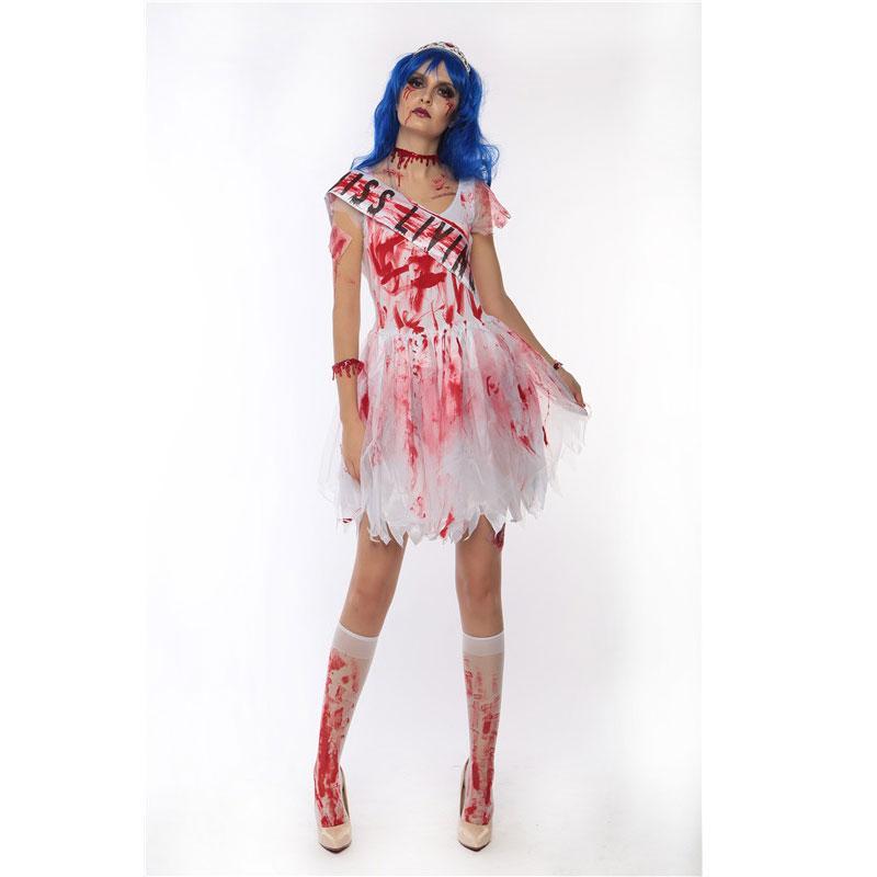 halloween vestido de vampiro sangrento traje mulheres diabo clássicos vivem traje vestido mortos 40220