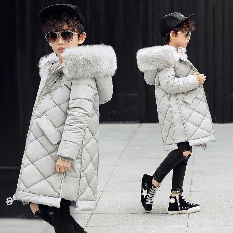 Fermeture Rembourrée Pour Survêtement Vêtements En Parkas Acheter La Veste Manteau Longues Coton Enfants Mode Glissière D'hiver À Garçon e9H2IWDYE