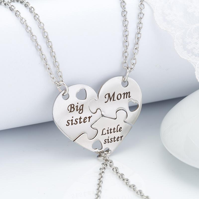 Moda collane cuore d'argento pendenti per le donne migliore amico collane piccolo pendente collane gioielli di alta qualità regalo per amico / alta qualità