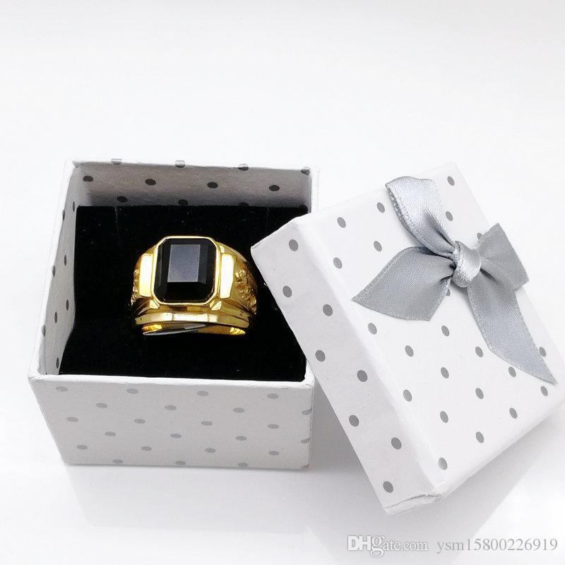 Freier Verschiffen-Großverkauf 70pcs / lot 5 x 5cm weißer Ring-Geschenk-Kasten, Schmuckverpackung