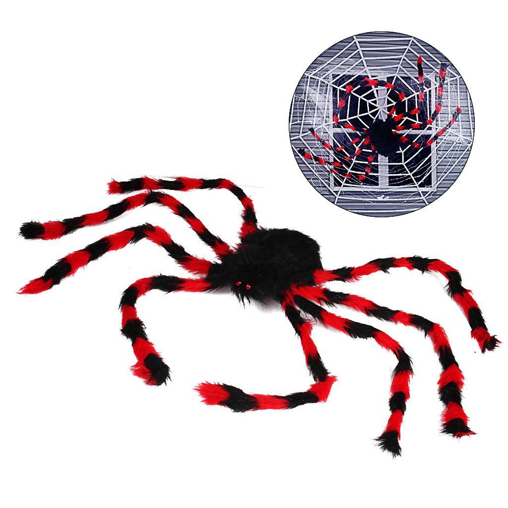 49 дюймов черный большой паук для Хэллоуин украшения крытый открытый двор декор страшно плюшевые паук реквизит