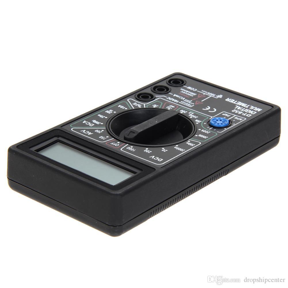 DT832 디지털 멀티 미터 테스터 LCD 미니 멀티 미터 AC DC 전압계 전류계 OHM 미터 자동 극성 디스플레이