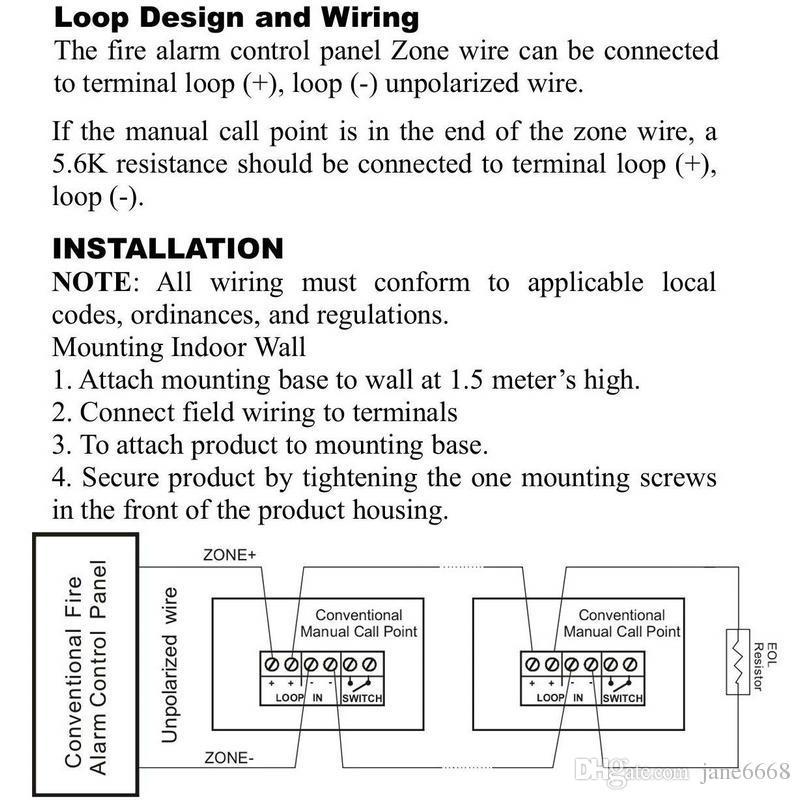 Compre 9 28VDC Sistema De Alarme De Incêndio Convencional Manual Botão De  Ponto De Chamada Estação De Incêndio Push Pull Down Alarme De Emergência