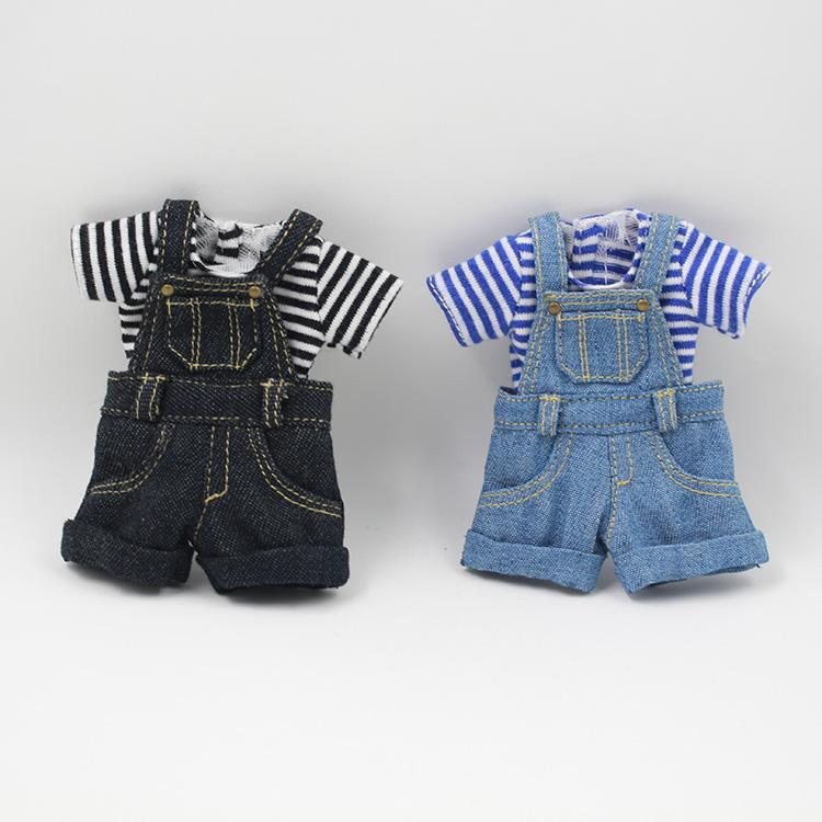 Dolls Accessories Dolls Outfits for Blyth doll Denim overalls for the 12 inch doll JOINT body cool dressing Factory Blyth