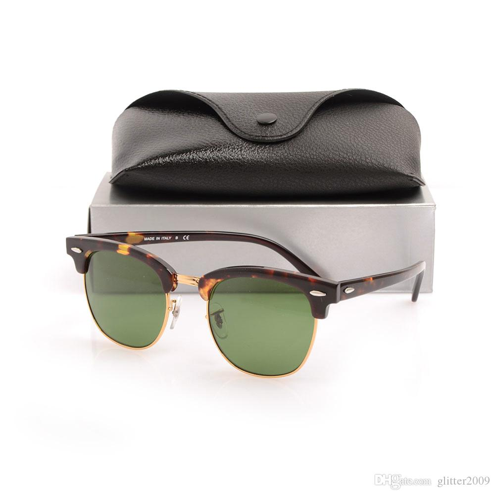 High Quality Plank Mens Womens Sun glasses Club Glass Lens New Brand Designer Sunglasses Metal hinge sunglasses with Original cases and box