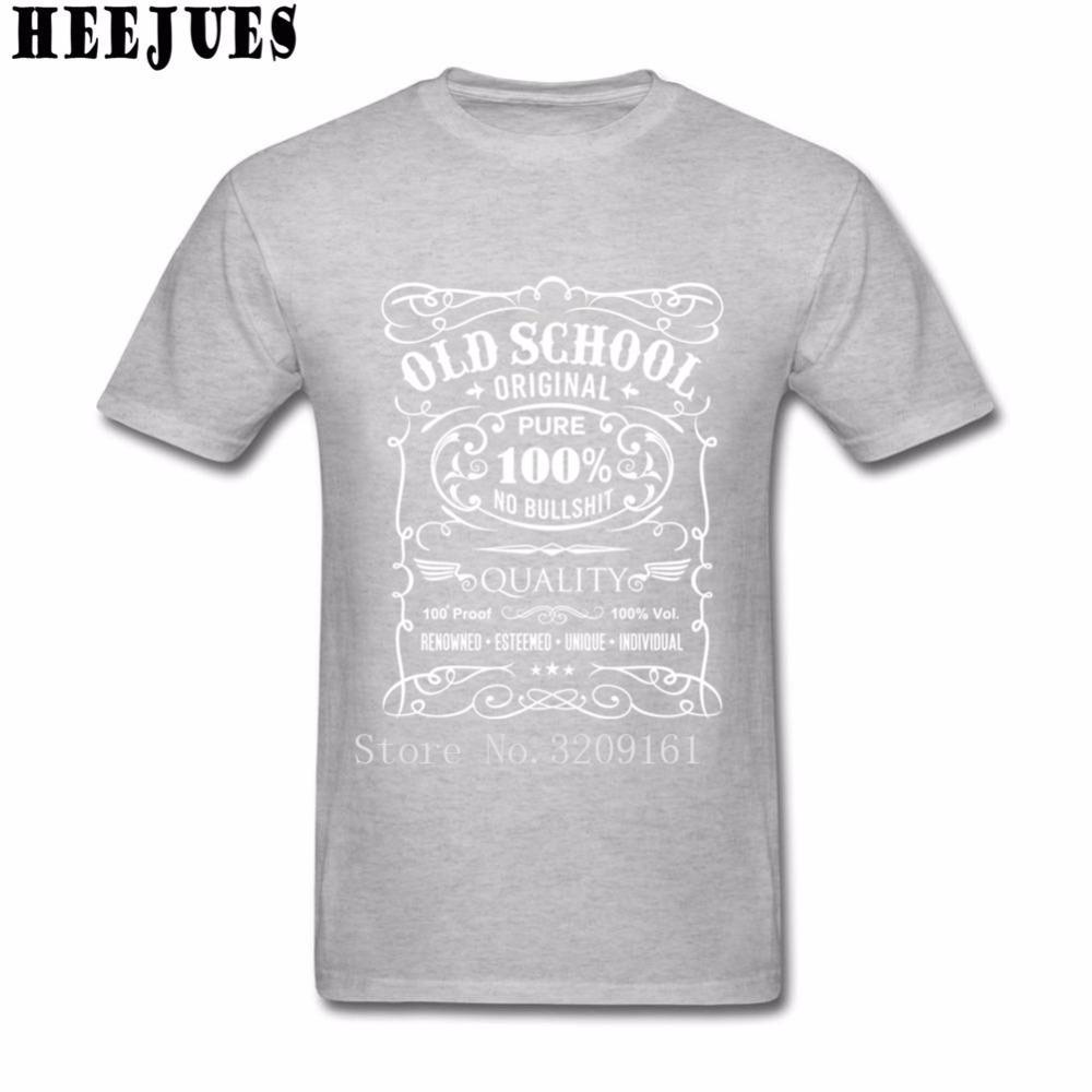 Men T Shirt 올드 스쿨 일반 신규 도착 돈 티 탑스 반팔 티셔츠 성인 크루 넥