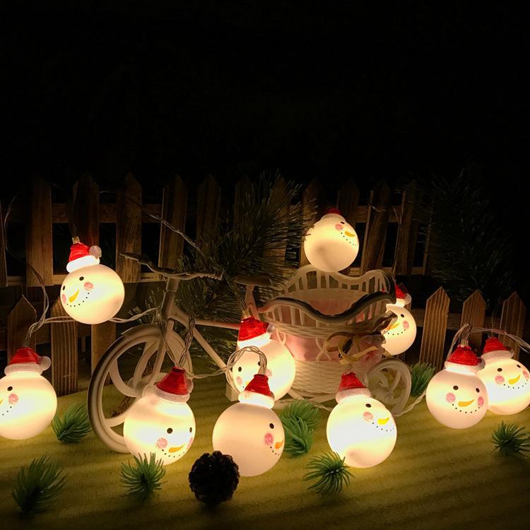Vendita diretta 3 m luci a led luci di batteria pupazzo di neve di Natale luci decorative albero di Natale in magazzino