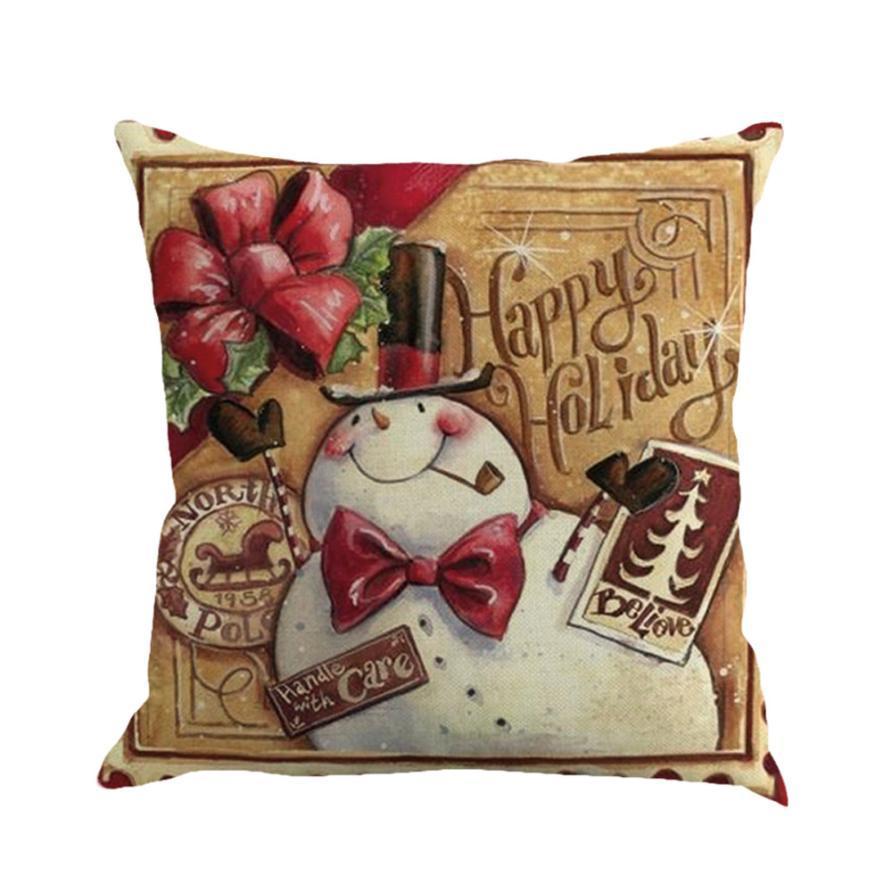 Taie d'oreiller carrée 45 * 45 de Noël impression teinture canapé-lit Home Decor taie d'oreiller housse de coussin livraison gratuite