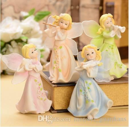 2021 Fashion Home Decoration Child Small House Accessories Angel Doll Decoration Smallsweet Resin Europe Fairy Figurines Home Decor From Monster Guardians 27 64 Dhgate Com
