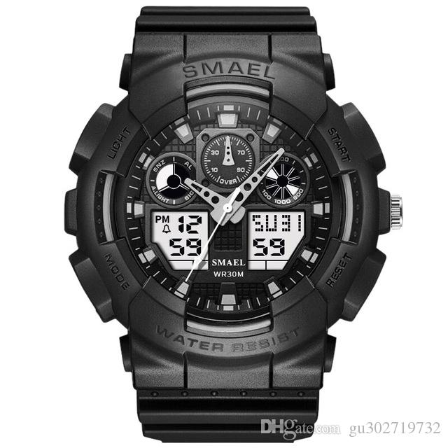 SMAEL Marka İzle Erkekler Spor LED Dijital Erkek ClockWristwath Erkek izle üst marka Relogios Masculino Montre Homme WS1027