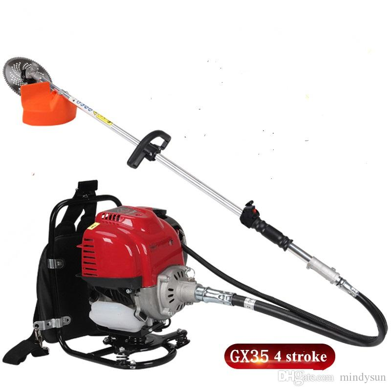 New model Garden Trimmers 4 stroke Engine,China GX35 Motor 35.8CC Back-pack Grass Cutting Tool,Whipper Sniper,Brush Cutter with Metal Blades,Nylon Head--Split Shaft