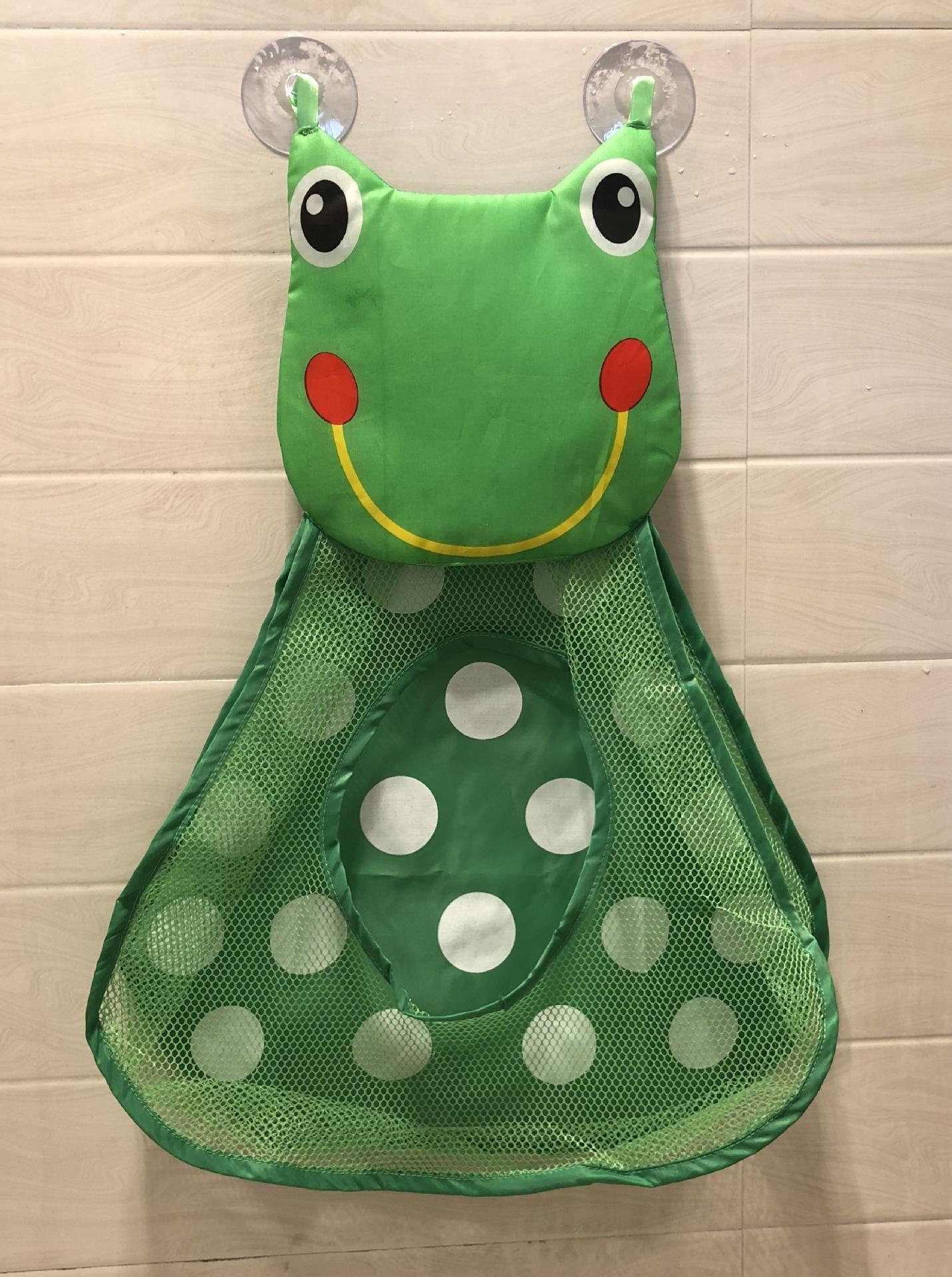 Copo quente do bebê Crianças Banheira Toy Tidy armazenamento de sucção saco de malha de banho Sapo Yellow Duck Forma de sucção Bag Folding Roupa de suspensão de vácuo