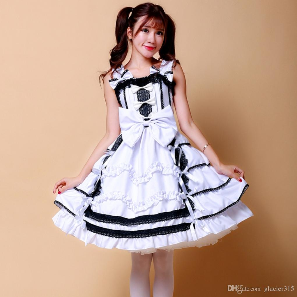 Shanghai Story New Arrival Japanese Anime Cosplay Halloween Costumes For Woman Angel Wing Lolita Dresses