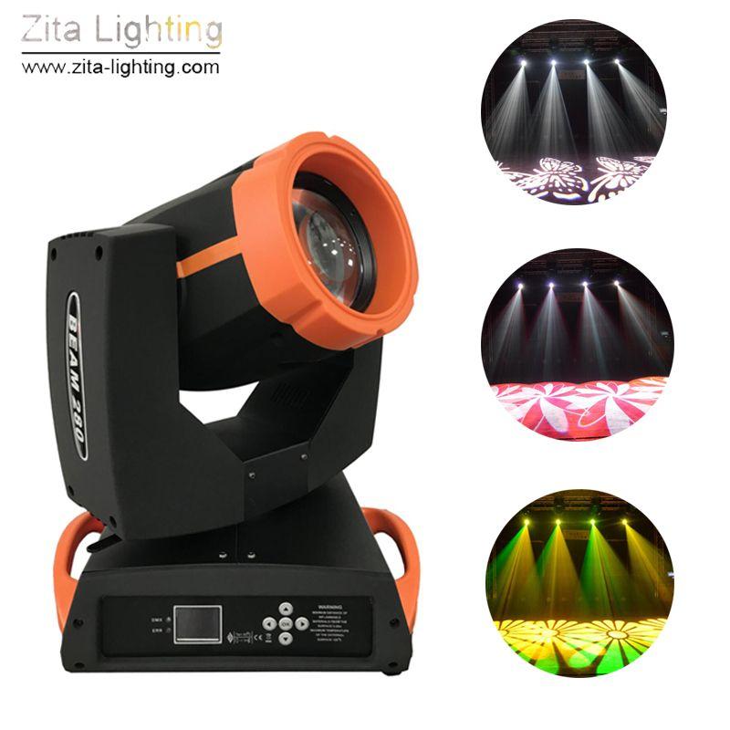2pcs / Lot Zita Iluminação 280W Moving Head Light 10R Movendo feixe iluminação de palco com caso DMX512 Movendo Sharpy DJ do evento do disco Atmosfera Effect