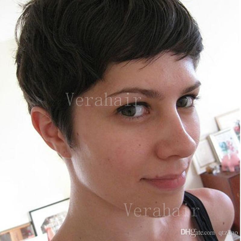 schwarze haare kurz