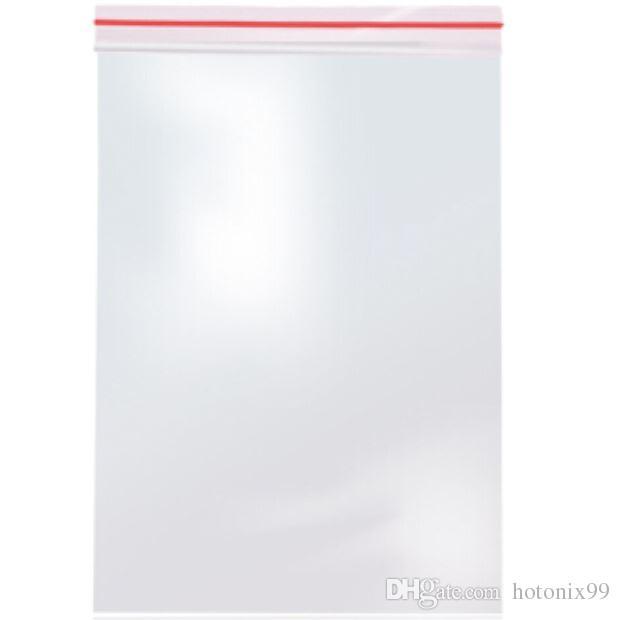 70mmx50mm/60mmx40mm/40mmx32mm двусторонний толщина 0.08 мм прозрачный красный застежка-молния PE почтовый замок сумки