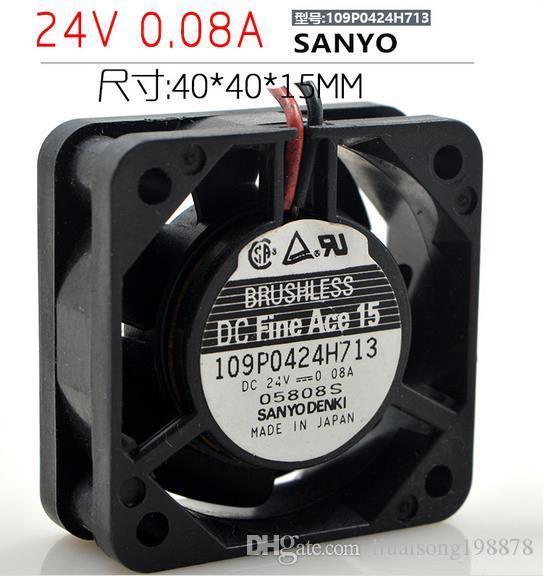 109P0424H713 2 전선 컴퓨터 냉각 팬 DC 24V 0.08A 4015 4CM 40 * 40 * 15mm