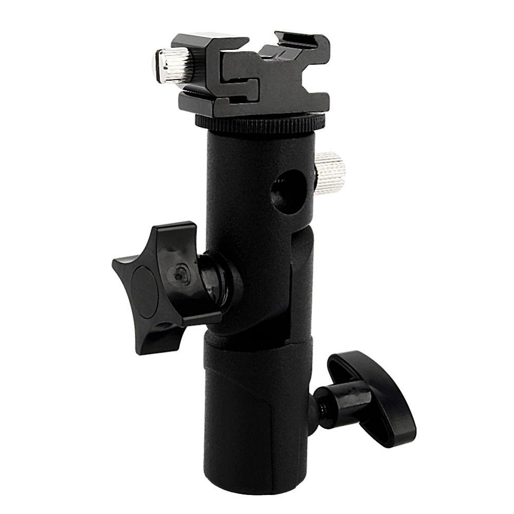 Freeshipping Adjustable Umbrella Speedlite Hot Shoe Flash Holder Bracket For Tripod For DSLR Camera