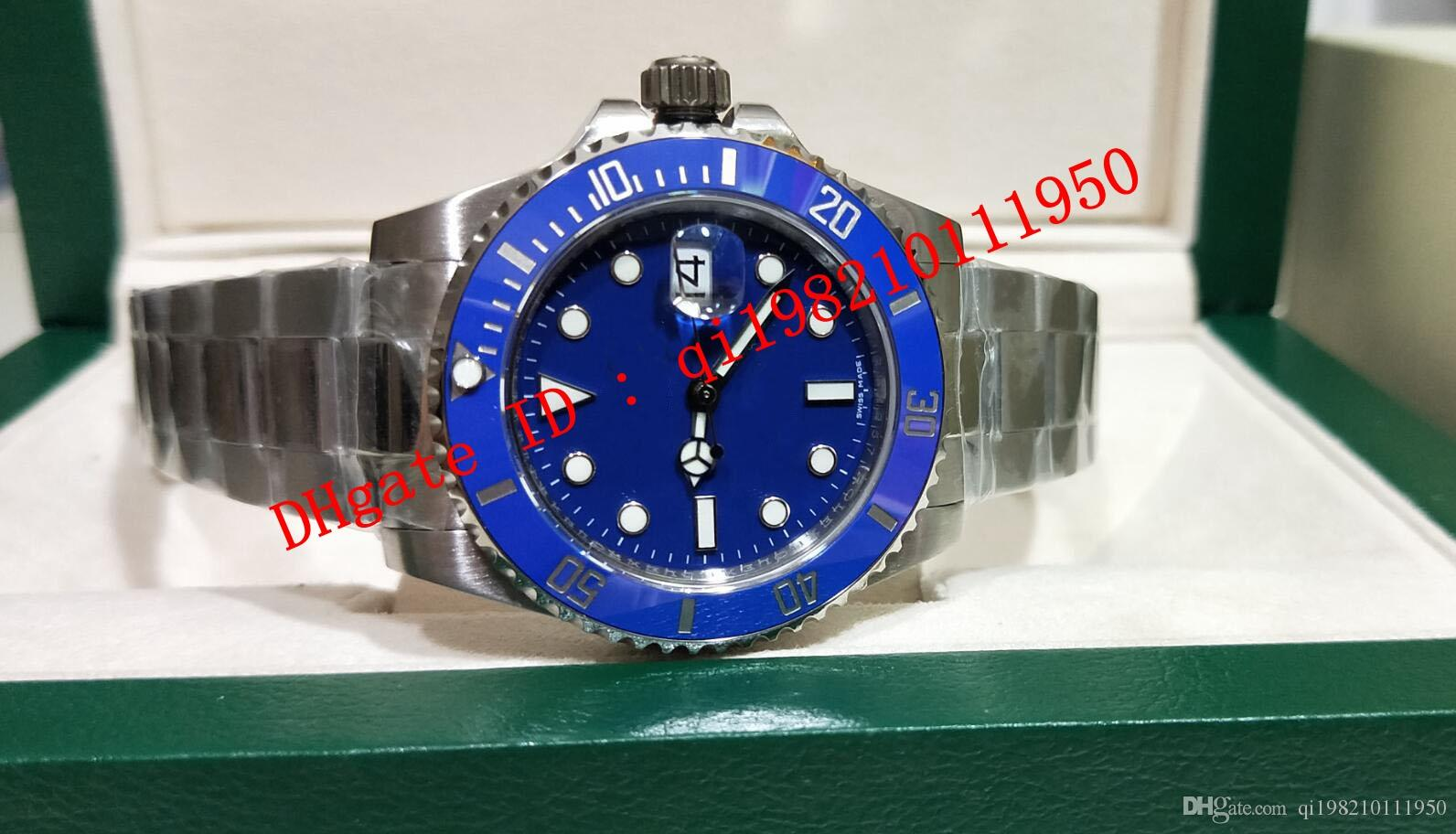 6 estilo Top Quality VO5 2813 Movimento Cerâmica Bezel Blue Dail 40mm 116610 116610lv 116613 116660 116619 Caixa original Mens relógio relógios