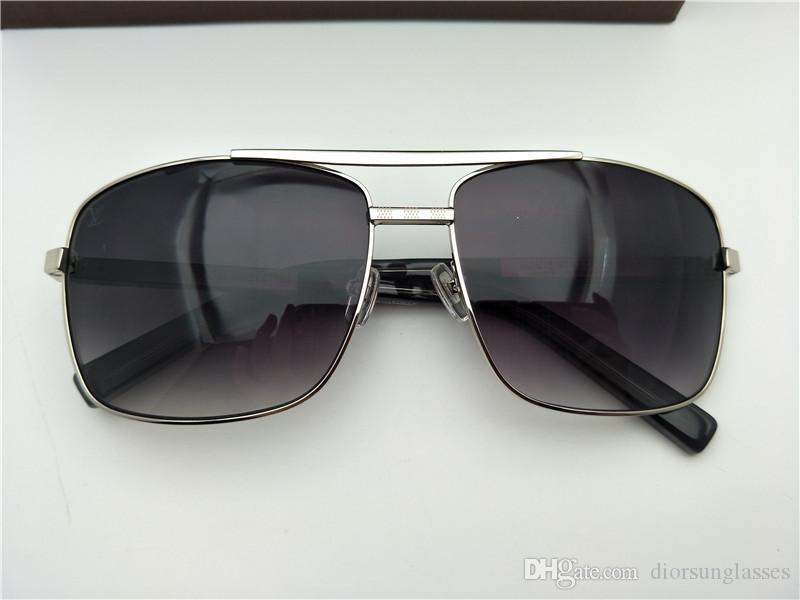 Orijinal Kılıf ile Kadınlar Dakota TM TF Parlak Siyah Plastik Güneş Gözlüğü Açık Gri Gradyan Güneş
