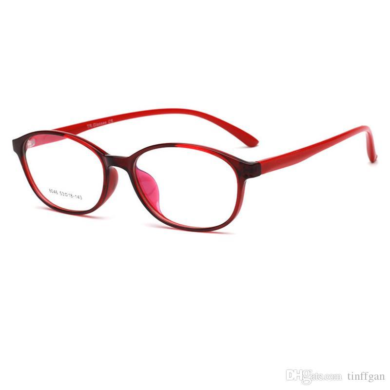 Fashion Very light oval TR90 Eyeglasses Frames Good quality Men Women Optical Plain Mirror Eye Glasses Frame for Myopia Glasses
