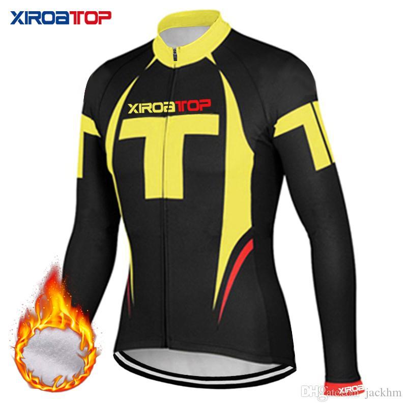 XIROATOP 새로운 뜨거운 판매 겨울 열 양털 사이클링 자 켓 자전거 스포츠 의류 따뜻한 긴 소매 사이클링 유니폼 고품질 의류