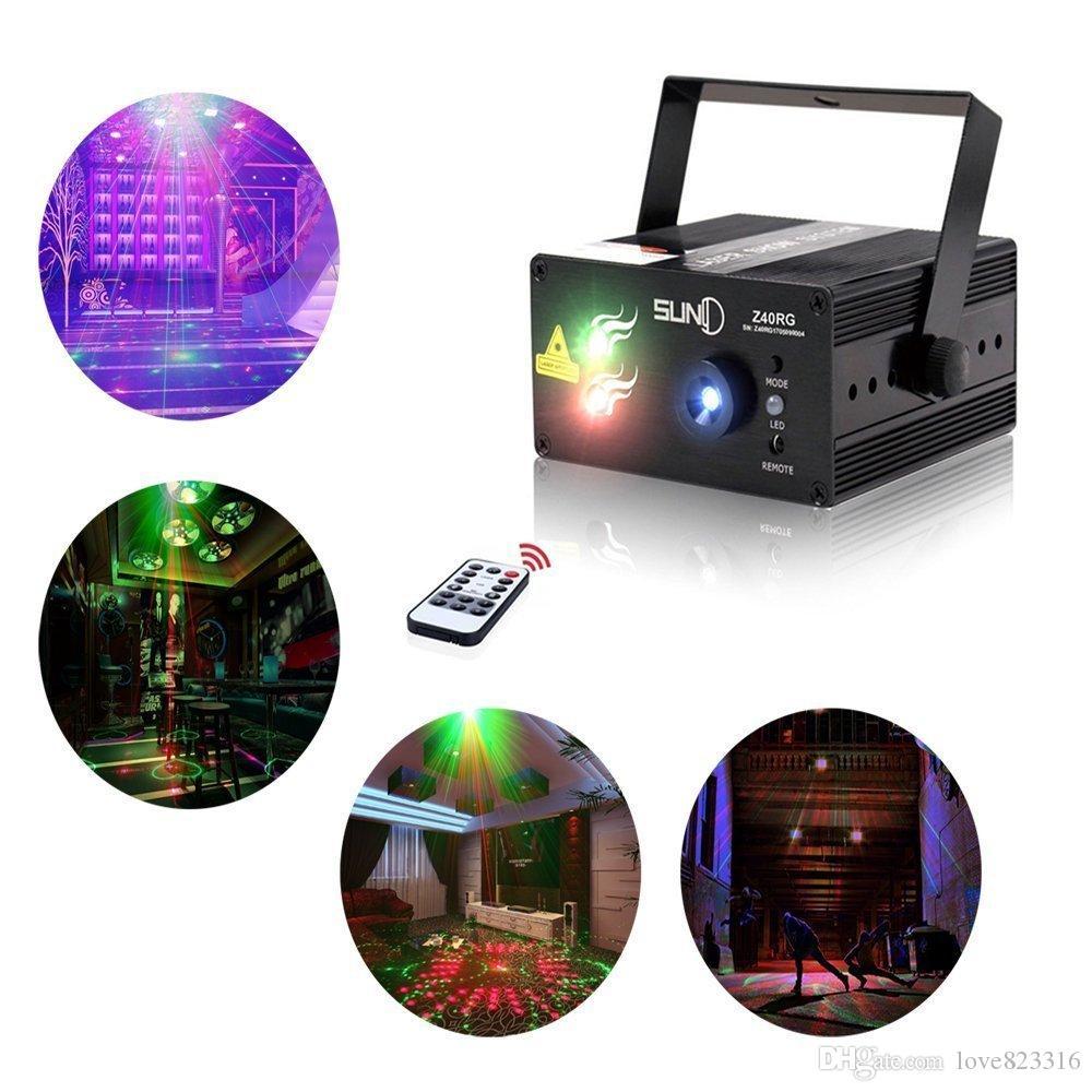 Laser Lights Led Projector,40 Patterns RG Laser DJ Stage Lighting, Best For Disco/Wedding/Birthday/Family Party/Clubs etc US/EU/AU/UK