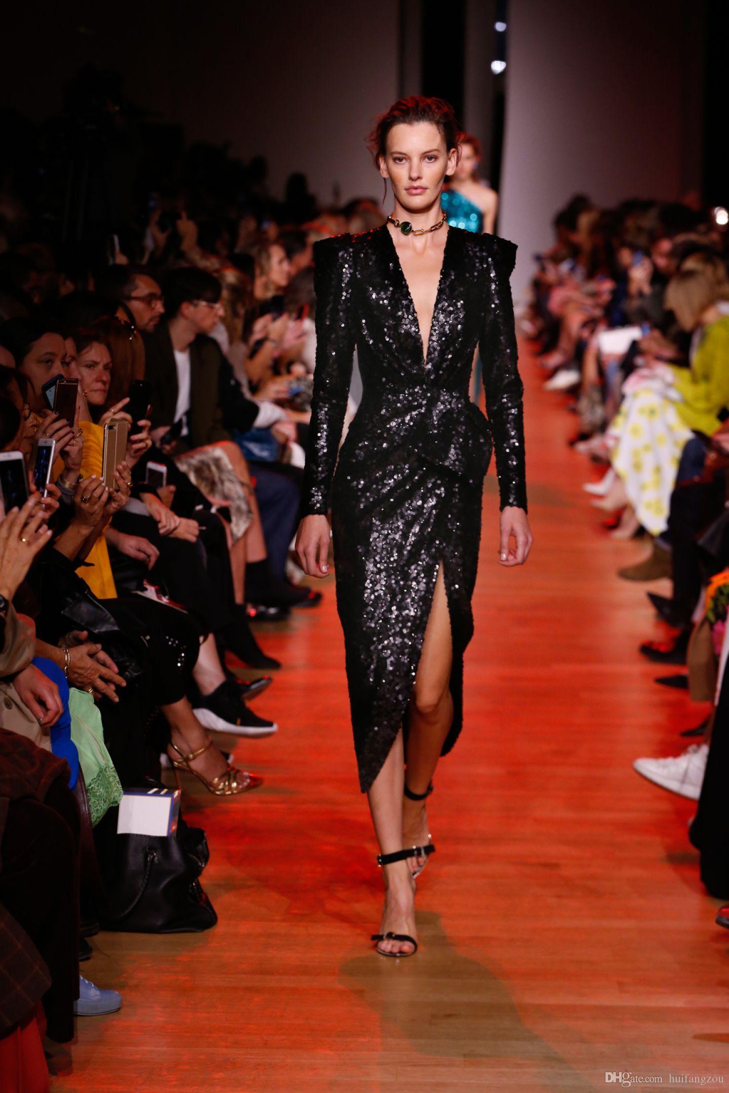 Großhandel Elie Saab Pailletten Prom Kleider 16 Mode V