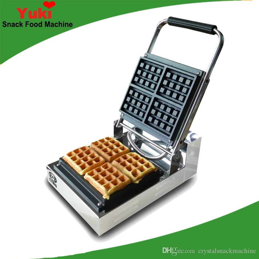Handelsquadratische Waffelmacher Maschine Verdicken Waffelkuchen Maschine Elektrische Waffelherstellung Machine Beliebte Snackausrüstung