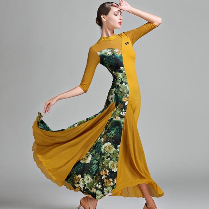 vestir salón de baile de salón de baile vestidos de mujer bailan vals vals de ropa ropa de danza española traje de flamenca -trot