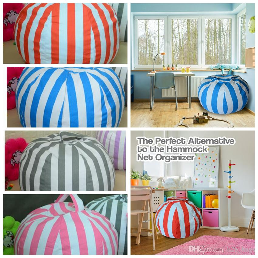 Fantastic 80Cm Stuffed Animal Toy Cotton Bean Bag Storage Pouch Soft Stripe Creative Clothes Storage Tool Organizerstorage Bean Bag Kka3870 In Wholesale Caraccident5 Cool Chair Designs And Ideas Caraccident5Info