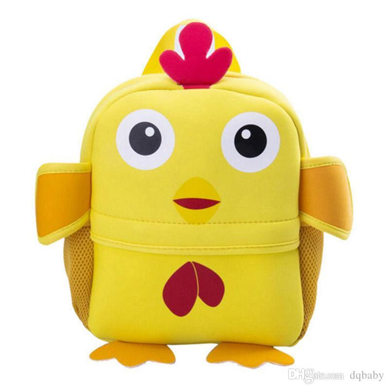 2018 3D 귀여운 동물 디자인 배낭 어린이 학교 가방 소녀 소년 만화 모양의 어린이 배낭