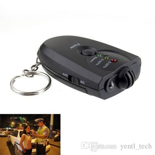 NUOVO portatile portachiavi LED Alcol Tester Etilometro catena Mini chiave professionale il trasporto libero Yentl Meter analizzatore portatile