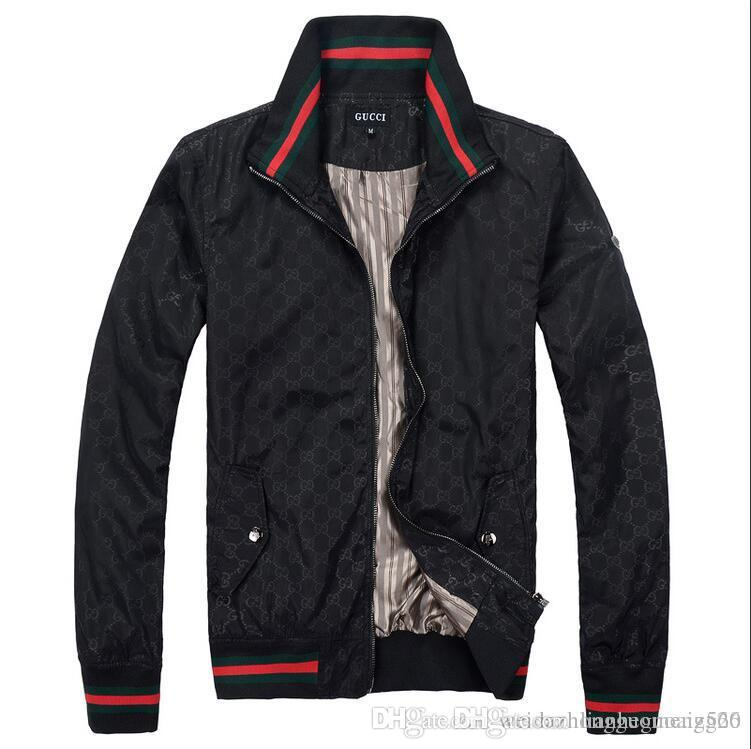 HOT Mens Luxurious Brands LOGO GUCCI Jackets Spring And Autumn New Classic  High Quality Casual Coats Fashion Jacket Men Jackets Brands Black Coats And