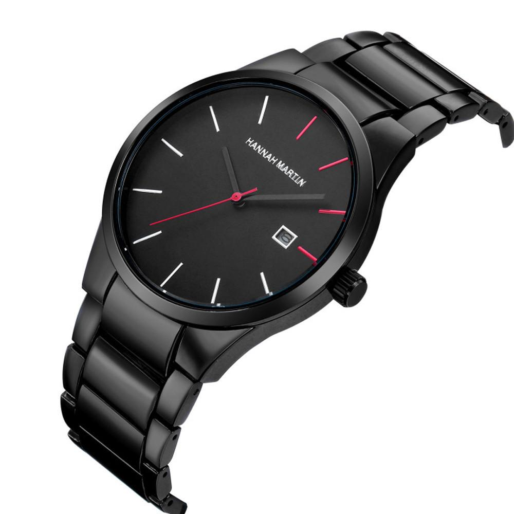 Relógios de pulso dos homens de moda esportiva dos homens relógio de aço inoxidável analógico data esporte quartz relógio relogio masculino homens