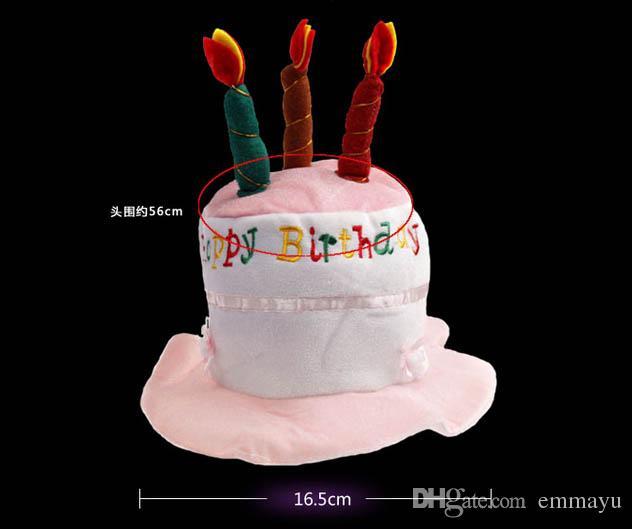 Amazing 2020 Happy Birthday Cake Party Hat Plush Novelty Cap Candles Party Funny Birthday Cards Online Inifofree Goldxyz