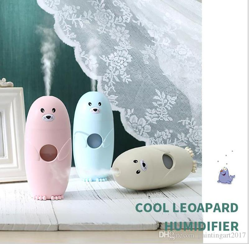Cool leopard car Household Ultrasonic Aroma Diffuser Air Humidifier Lovely Small Fog Essential Oil Diffuser Colorful Night Light Mist Maker