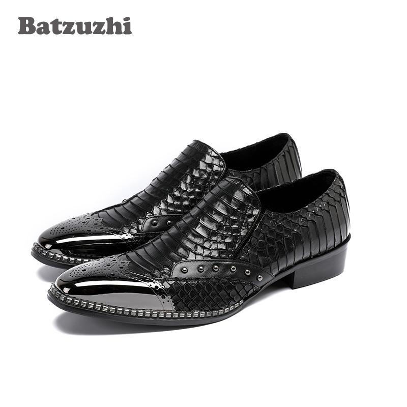 Moda 2018 nuovi uomini scarpe argento metallo punta degli uomini scarpe da lavoro in vera pelle italiana moda affari scarpe formali, 38-46