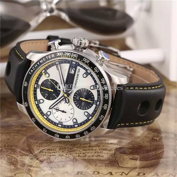 2015 핫 판매는 스포츠 스타일 고품질의 스테인레스 스틸 남성 석영 스톱워치 남자 크로노 그래프 손목 시계 남성 시계 (552) 시계