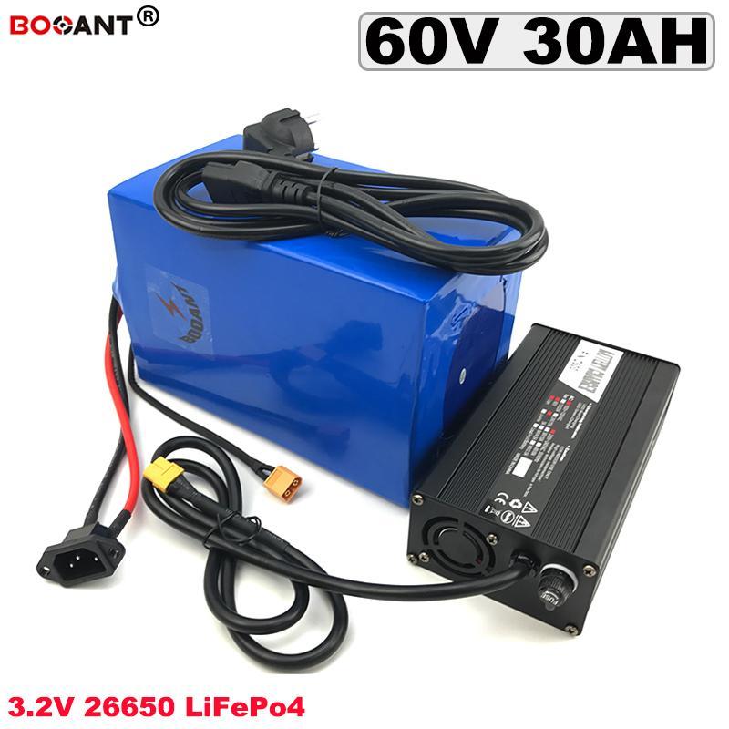 Wiederaufladbare LiFePO4 Lithium-Ionen-Akku 60V 30AH für Bafang 1500W Motor elektrischen Fahrrad-Batterie 60V + 5A Ladegerät geben Verschiffen frei